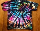 Bright Spiral Tie-Dye T-Shirt, Hippie Clothes