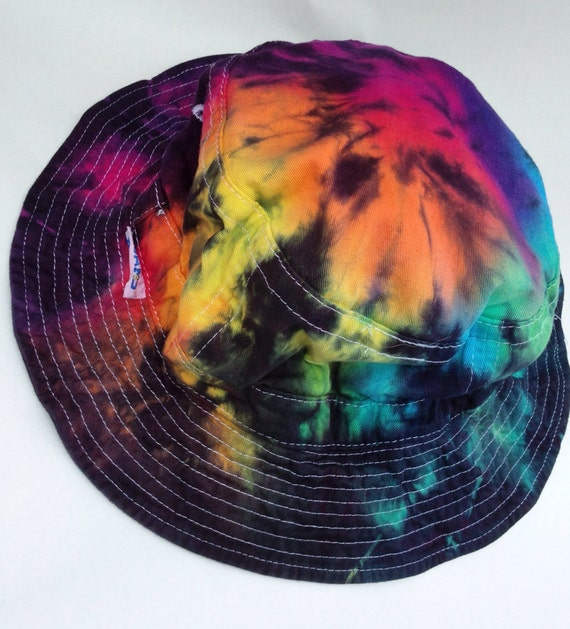 Tie Dye Bucket Hat Wholesale Rainbow Tie Dye Bucket Hat