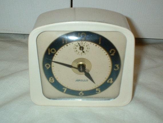Vintage Lux Apollo Alarm Clock Manual Wind Up Lux By PbClocks