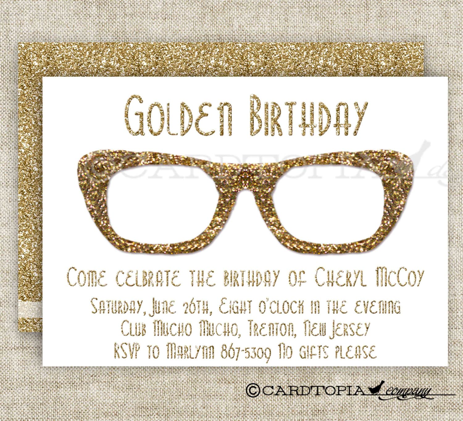 HIPSTER BIRTHDAY PARTY Invitations for Adult Woman or Girl
