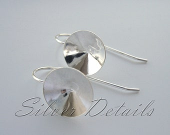 KBasic Sterling Silver French Ear Wires Hooks with Cups for Swarovski Crystals Rivoli 12 mm 925 model ES66