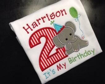 Elephant birthday shirt - Circus or Carnival Theme Birthday Shirt