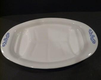 Blue Cornflower Platter Corning Ware Vintage
