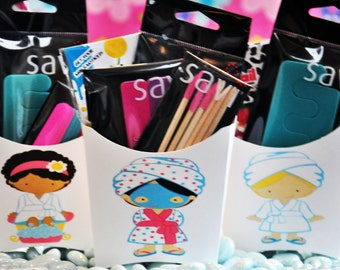 Spa Party Favors -  Birthday Party Favors - Sleepover Party Favors -Glamorous Sweet Events