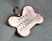 Copper Dog Tag - Pet ID - Customize with your own info