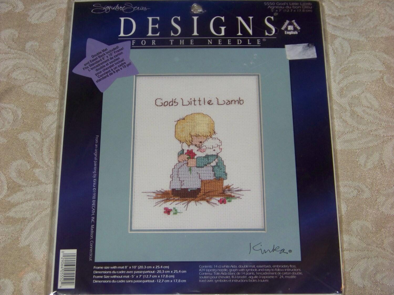 d0c1cc5d993f9 God  39 s Little Lamb Cross Stitch Kit  5550 by Designs for the Needle  http   ift.tt 1mX0GSw