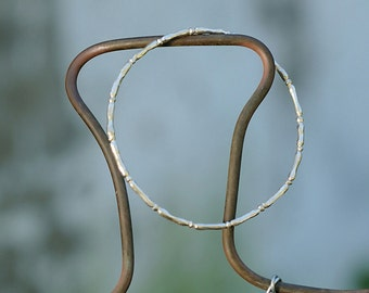 Stacking Bangle Bracelet - Sterling Silver Stackable Bangle - Bamboo