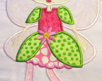 Fairy Bug 05 Machine Applique Embroidery Design - 5x7 & 6x8