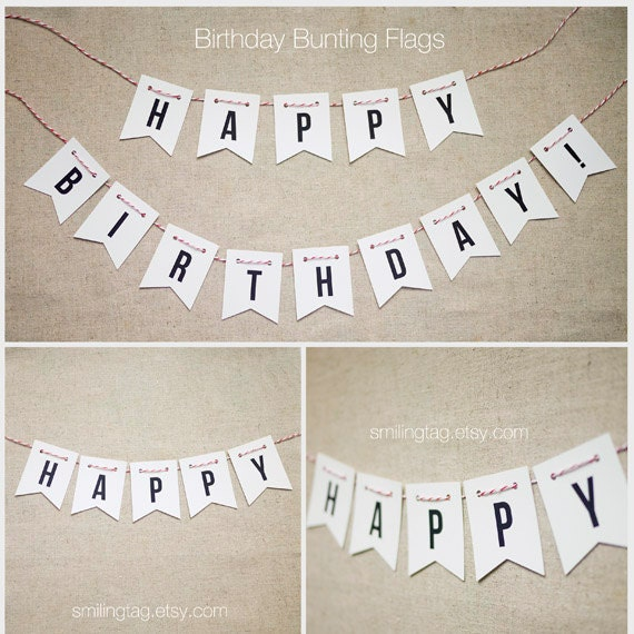 Custom Listing for Caecilia - Happy Birthday Bunting Pennant Flag - Party Flags - Event Bunting - Party Bunting - (Item code: J326)
