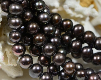 Freshwater Pearl Beads 9 To 10mm Brown Freshwater Pearl Jewelry Making Supplies