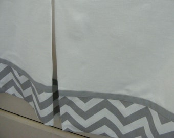 Baby bedding Dust Ruffle / Lined Crib Skirt 15-18 inch /  Any Fabric