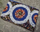Boho Chic  Multi Beaded Coin Purse Clutch Wallet, Womens  FREE SHIPPING