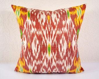 """Sale! Ikat Pillow, Kaleidoscope 20"""" Ikat Pillow Cover - A507-1AA3, Ikat throw pillows, Designer pillows, Decorative pillows, Accent pillows"""