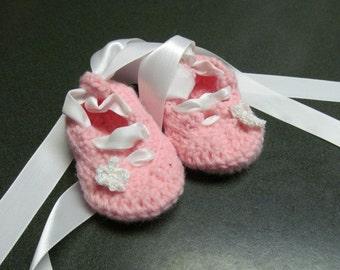 Custom Baby Ballerina Slippers Sizes 0-12 month