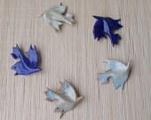 Bird brooch, dove circle, ceramic jewelry.