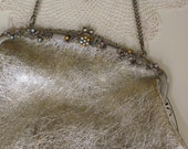 Beautiful Jeweled Vintage Handbag with Coin Purse and Pen Set