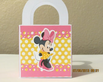 "3"" x 3"" Minnie Mouse Favor/Gift Bags (Set of 8)"