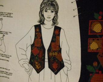 Vintage Vest panel, Black Forest Vest