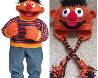 Crochet Ernie Beanie/Hat