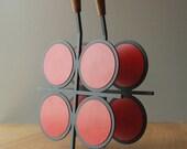 Vintage Laurids Lonborg Red Spot Teak-Handled Trivet - set of 2
