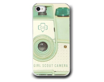 Mint Green Camera,   iPhone 6  iPhone 5 4 4s Case, Vintage Girl Scout Camera Mint Green, Cell Phone Case,  Accessory  iPhone