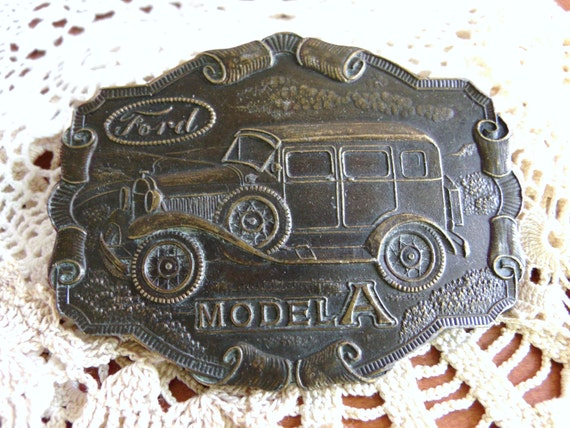 RESERVED for Ashley Hansen...Ford Model A Belt Buckle Brass