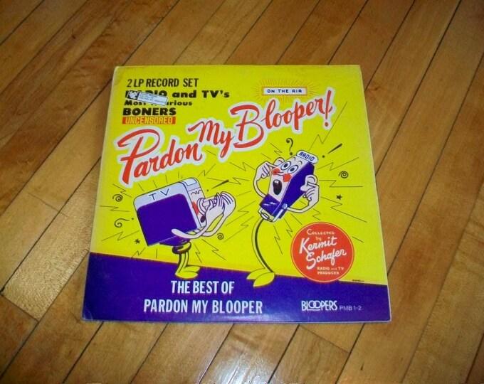 Pardon My Blooper Comedy Record Album Vintage 1960s 2 Record Set PMB 1-2