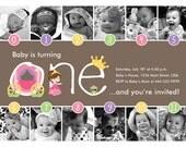 Princess Timeline FIrst Birthday Invitation