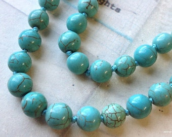 SPECIAL OFFER 1 Piece of 48 inch Round Turquoise Necklace (c.m)