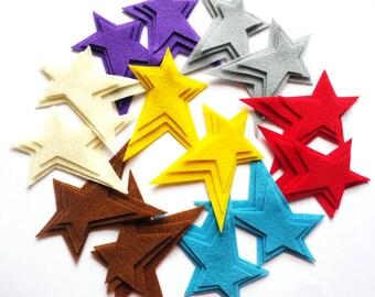 Felt Star PRIMITIVE, set of 42 pieces