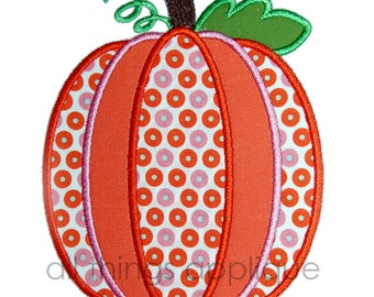 Five Layer Pumpkin Applique Design - 3 Sizes - Halloween and Thanksgiving Applique Design - INSTANT DOWNLOAD