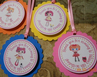 Lalaloopsy Favor Tags-Lalaloopsy Thank You Tags-Lalaloopsy Birthday-Lalaloopsy Party-Lalaloopsy Party Decoration-Lalaloopsy Decoration