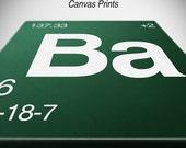 Breaking Bad Element Canvas Prints - Set of 2 Stretched Canvas Prints 10x10 or Larger - Br & Ba Element Prints