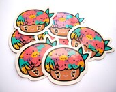 Missjellypus 2.5 inch vinyl sticker Pack of 4