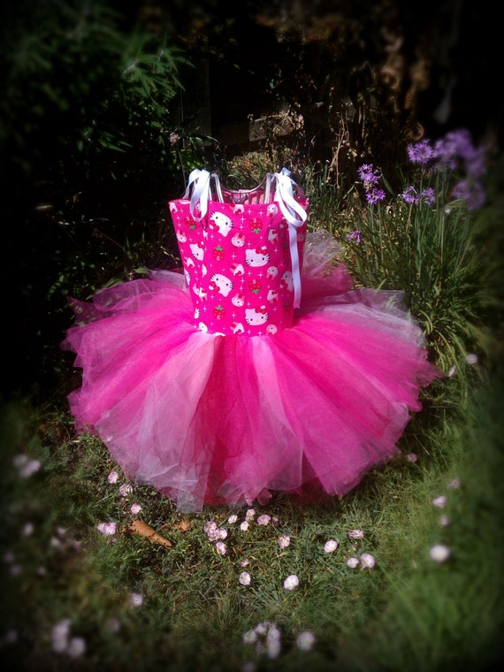 Tutu dress Girls hello kitty tutu Hello Kitty tutu dress