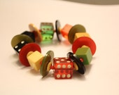 Vintage Bakelite las vegas bracelet - circa 1950s