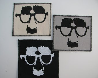 One Groucho canvas patch in any color you choose....FREE SHIPPING USA