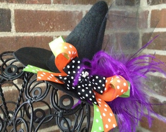 Playful Witch Hat - Mini Witch Hat - Costume Accessory - READY TO SHIP