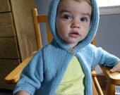 Soft Hooded Cardigan Size 3-6 month, 6-9 month, 9-12 month