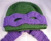Pattern Only** Masked Turtle Hat Crochet Pattern