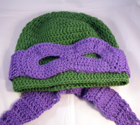 Free Crochet Pattern Turtle Hat : Items similar to Pattern Only** Masked Turtle Hat Crochet ...