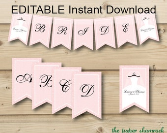 Printable Banner,  Wedding Shower Banner, Bridal Shower Banner