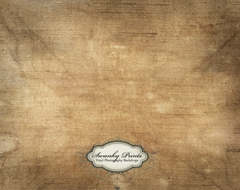 8ft x 6ft Vinyl Photography Backdrop / Brown Grunge Canvas