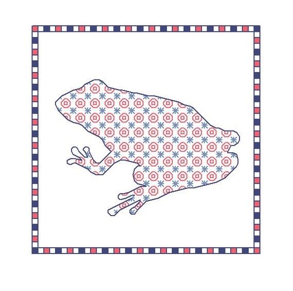 Blackwork Frog, blackwork animal charts, PDF, frogs