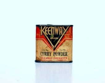 Tins, Vintage Collectibles,Keenway Curry Powder, Very Rare, 1920's