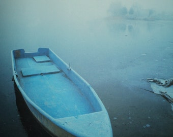 MICHAEL ROWED THE Boat Ashore Alleluia , Calm, Cool,  Ethereal Photographic Print, Ready to Frame and Display