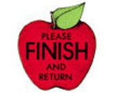 Please Finish and Return Apple Rubber Stamp • Teacher Stamp •  Teacher Rubber Stamp • Classroom Supplies • Woodblock Craft Stamp (B645)