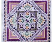 Indian Summer Mandala cross stitch chart / pattern pdf instant download geometric kaleidoscopic meditation spiritual original design floral