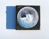 "Original 8"" x 8"" Acrylic Painting on Canvas Entitled - ""Moon"""