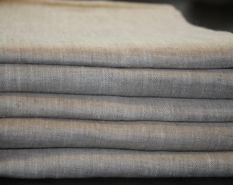 Linen duvet cover and 2 pillowcase , linen bedding, stonewashed